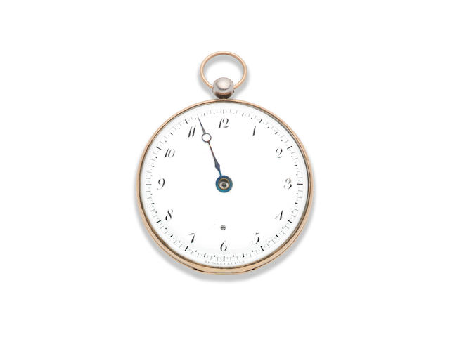 Breguet et Fils. A very fine and rare silver and gold open face key wind 'Souscription' pocket watch Sold 1st June 1803 to Monsieur Valego for 600 Francs