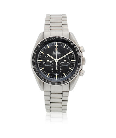 Omega. A stainless steel manual wind chronograph bracelet watch  Speedmaster Professional, Ref: 145.012-67 SP, Circa 1967