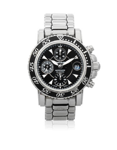 Montblanc. A stainless steel automatic calendar chronograph bracelet watch  Meisterstuck Sport XL Chrono, Ref: M29300, Sold 2nd January 2004