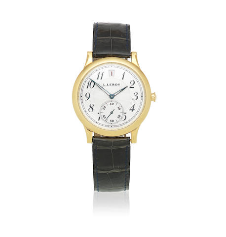 L. Leroy. An 18K gold automatic calendar wristwatch Circa 2010