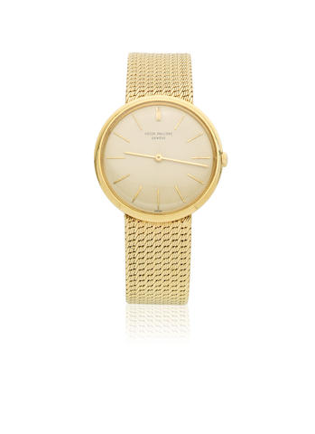 Patek Philippe. An 18K gold manual wind bracelet watch Ref: 2591, Sold 7th November 1962