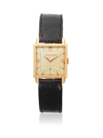 Jaeger-Lecoultre. An 18K gold manual wind square wristwatch Circa 1948