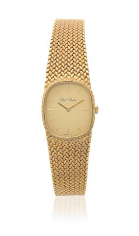 Paul Buhre. A lady's 18K gold manual wind bracelet watch Ref: 7953, Circa 1980