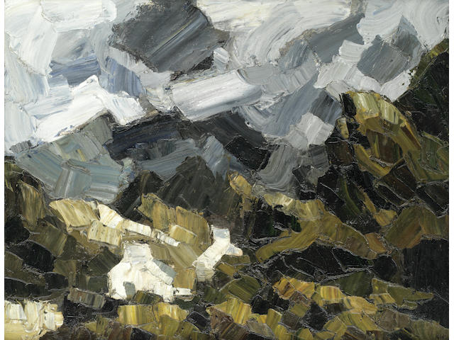 Sir Kyffin Williams R.A. (British, 1918-2006) Storm Clouds, Drwys-y-Coed, Snowdonia (Painted in 1957)