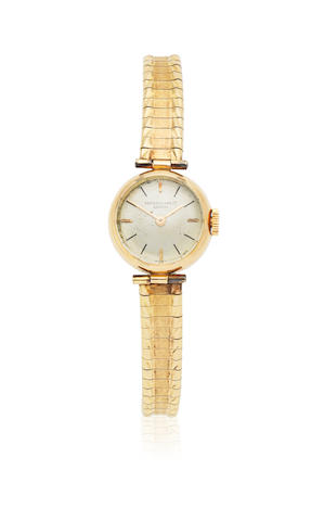 Patek Philippe. A lady's 18K gold manual wind bracelet cocktail watch Circa 1955