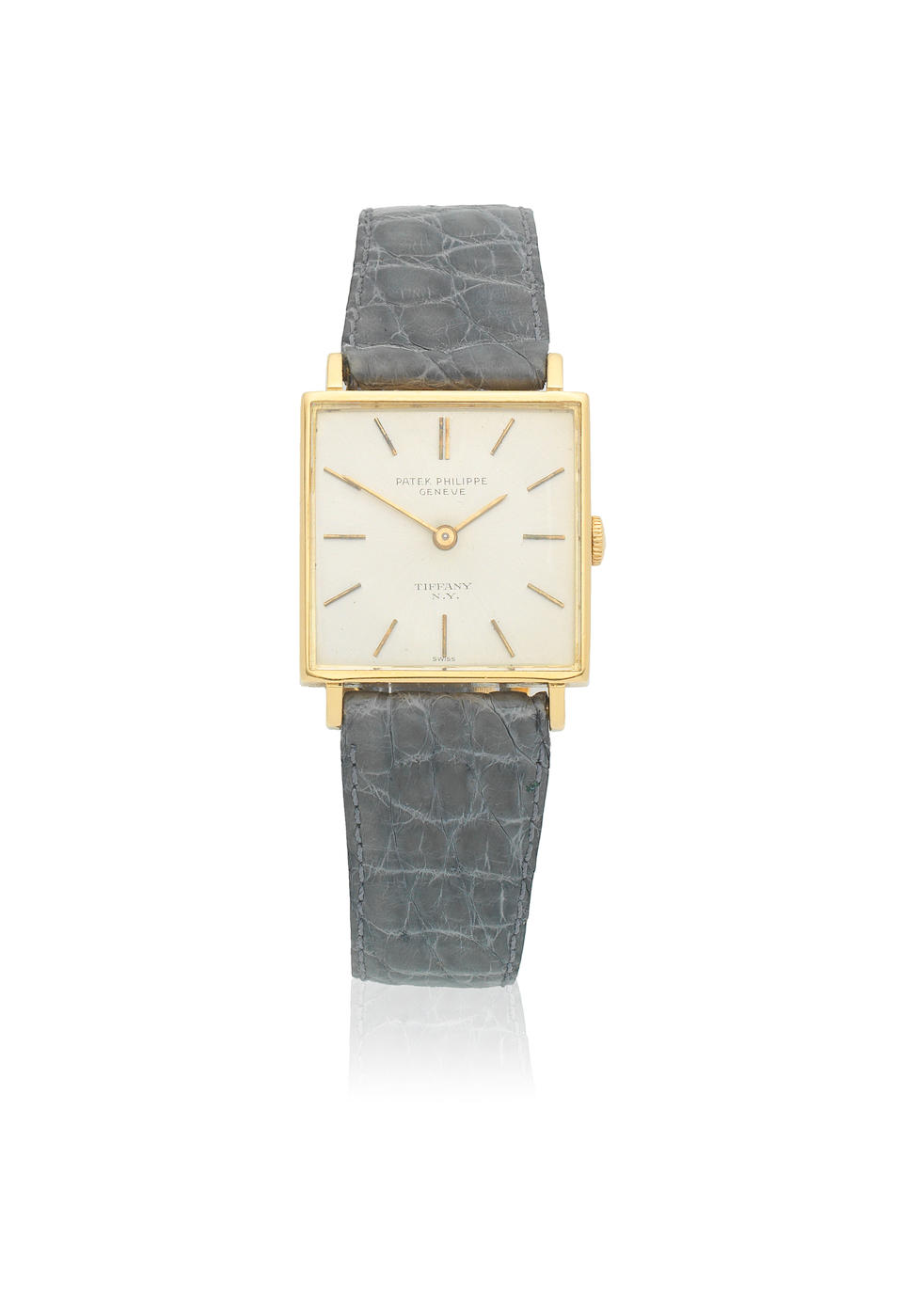 Patek Philippe. An 18K gold manual wind square wristwatch Ref: 3430, Circa 1965