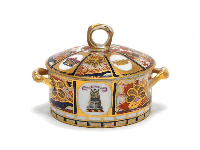 The Chamberlain Worcester butter tub from the Nelson Service, circa 1802-04