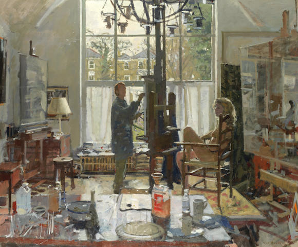 Ken Howard R.A. (British, born 1932) Artist and Model (Painted in 1998-99)