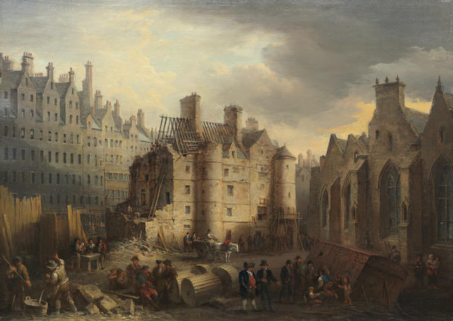 Alexander Nasmyth (Edinburgh 1758-1840) The Old Tolbooth, Edinburgh 44 x 61 cm. (17 1/16 x 24 in.)