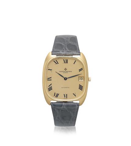 Vacheron Constantin. An 18K gold automatic calendar cushion form wristwatch Ref: 44003, Circa 1970