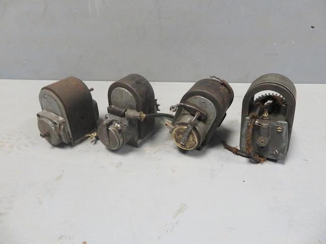 Four single cylinder magnetos
