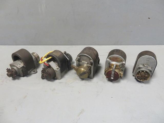 Five single cylinder magnetos  ((5))