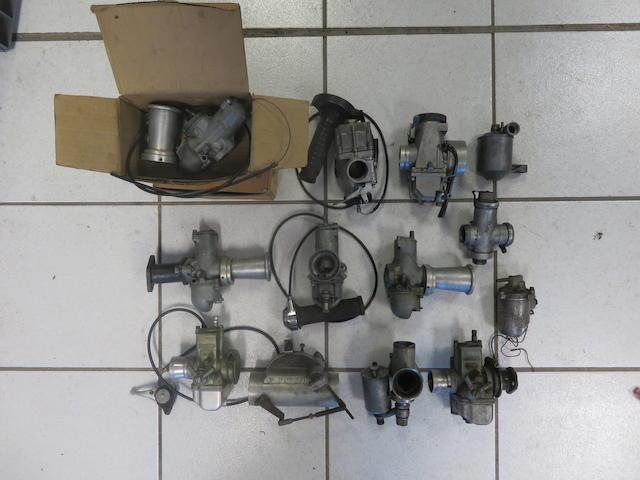 A quantity of carburettors,