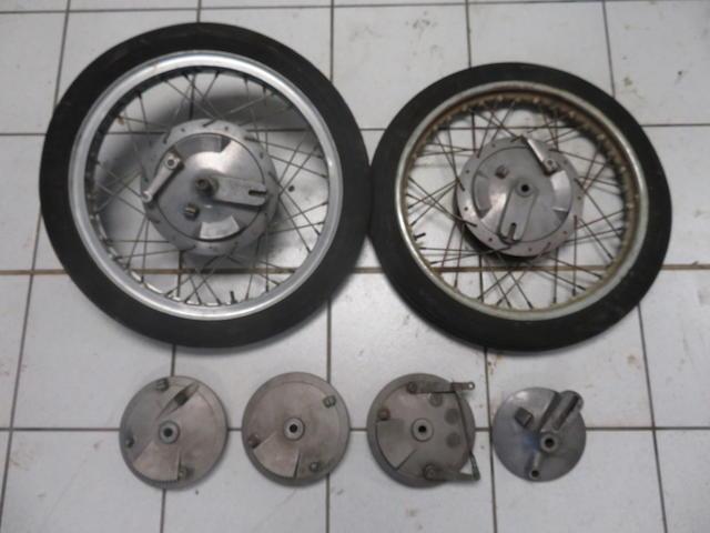 Two Ducati wheels