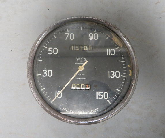 A Smith 5 inch Vincent type 150mph speedometer