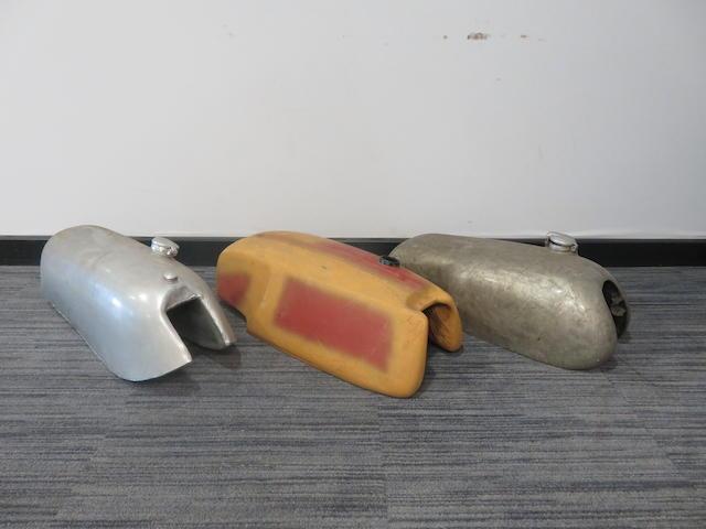 Three racing fuel tanks  ((3))