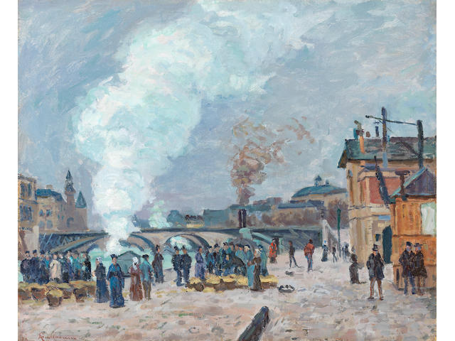ARMAND GUILLAUMIN (1841-1927) Les quais de Gesvres à Paris (Painted in 1874)