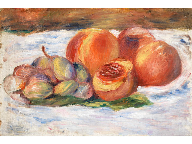 PIERRE-AUGUSTE RENOIR (1841-1919) Nature morte aux pêches (Painted circa 1905)