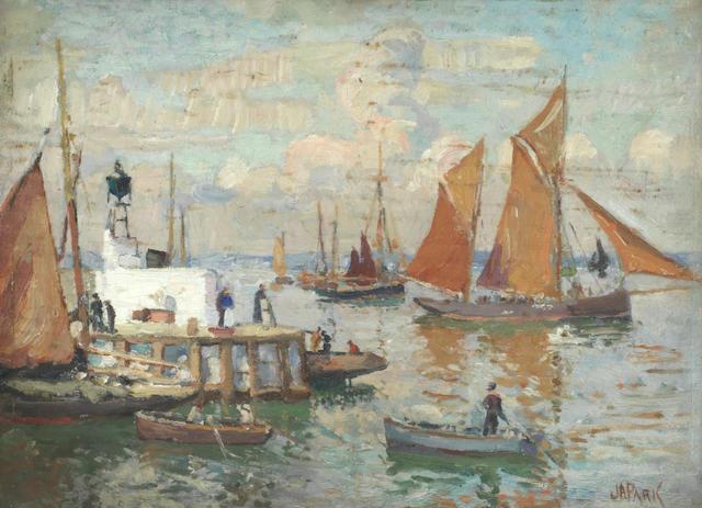 John Anthony Park (British, 1880-1962) Brixham harbour