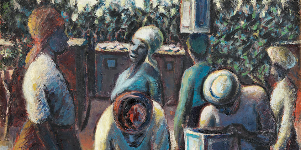 Gerard Sekoto (South African, 1913-1993) The water collectors
