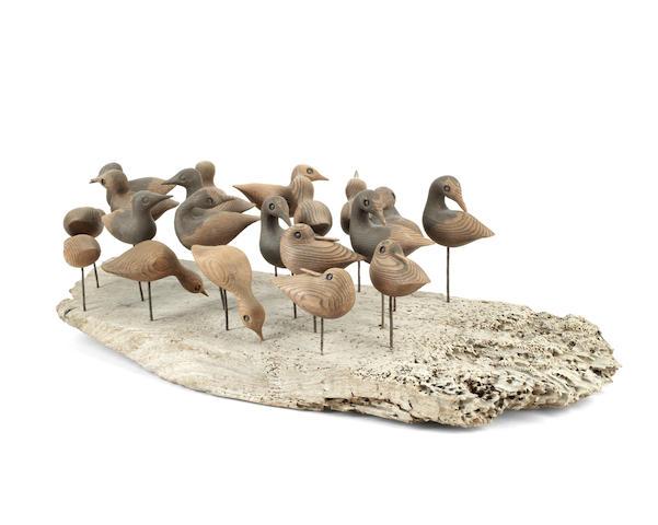 Guy Taplin (British, born 1939) 20 Shorebirds 60cm (23 5/8in) length