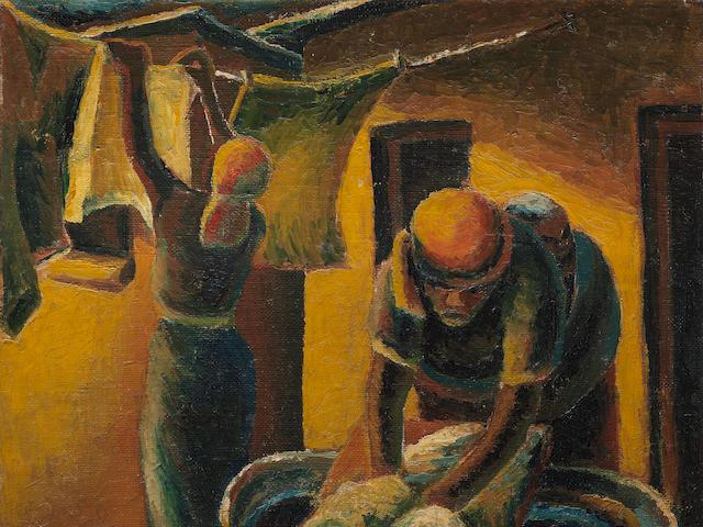 Gerard Sekoto (South African, 1913-1993) Washer woman, circa 1940