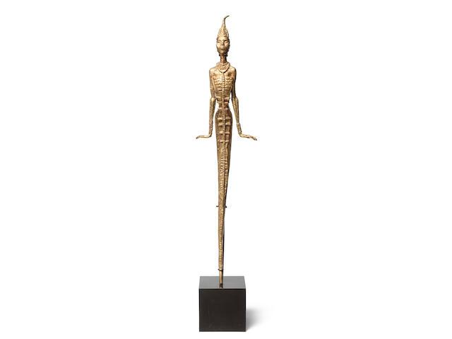 Benedict Chukwukadibia Enwonwu M.B.E (Nigerian, 1917-1994) Anyanwu 92 x 21 x 14cm (36 1/4 x 8 1/4 x 5 1/2in).