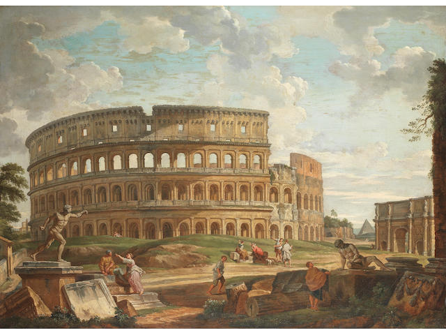 Circle of Giovanni Paolo Panini (Piacenza 1691-1765 Rome) The Colosseum, Rome