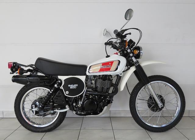 1977 Yamaha XT500D Frame no. 1E6-103418 Engine no. 1E6-103418