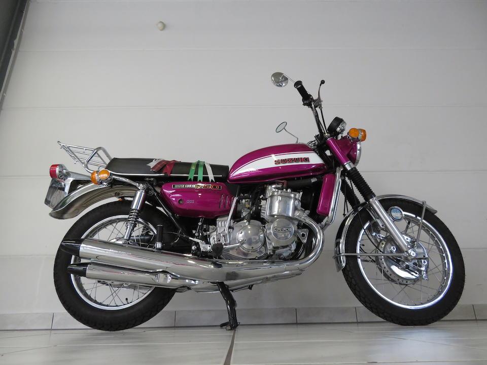 1972 Suzuki GT750J Frame no. GT750-22418 Engine no. GT750-26423