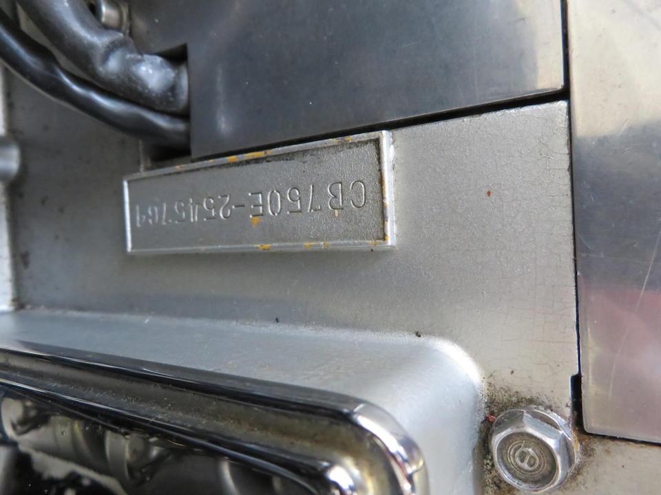 1976 Honda CB750F Super Sport Frame no. CB750F-1023761 Engine no. CB750E-2545789