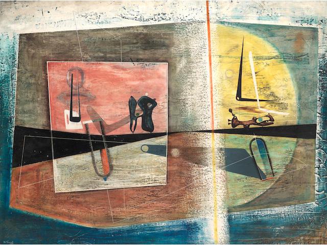 John Tunnard A.R.A. (British, 1900-1971) Painting No.1 91.3 x 121.8 cm. (36 x 48 in.)