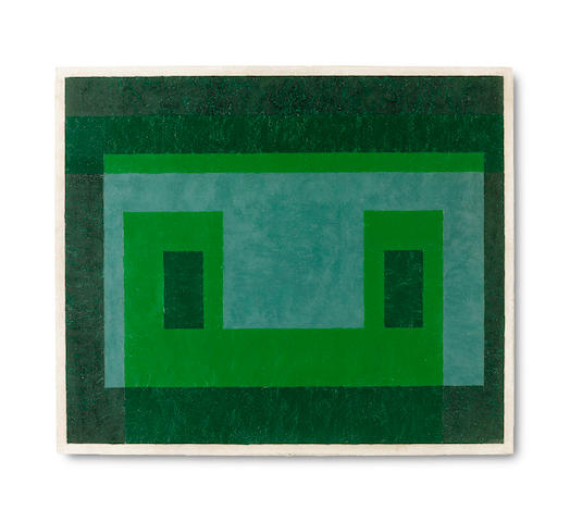 Josef Albers (American, 1888-1976) Contented Green 1948-1955
