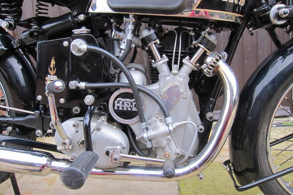 1935 Vincent-HRD 498cc Series-A Comet  Frame no. Upper frame no.D1053 Rear Frame no.D1032 Engine no. C82