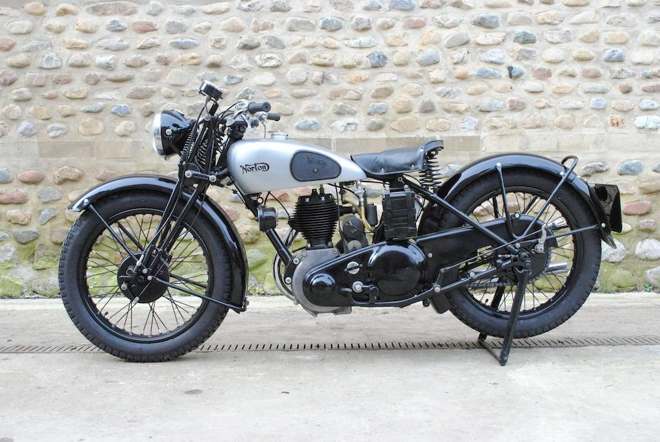 c.1941/1946 Norton 490cc Model 16H Frame no. W1056 Engine no. W66976