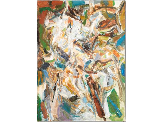 Shafic Abboud (Lebanon, 1926-2004) Composition No. 104