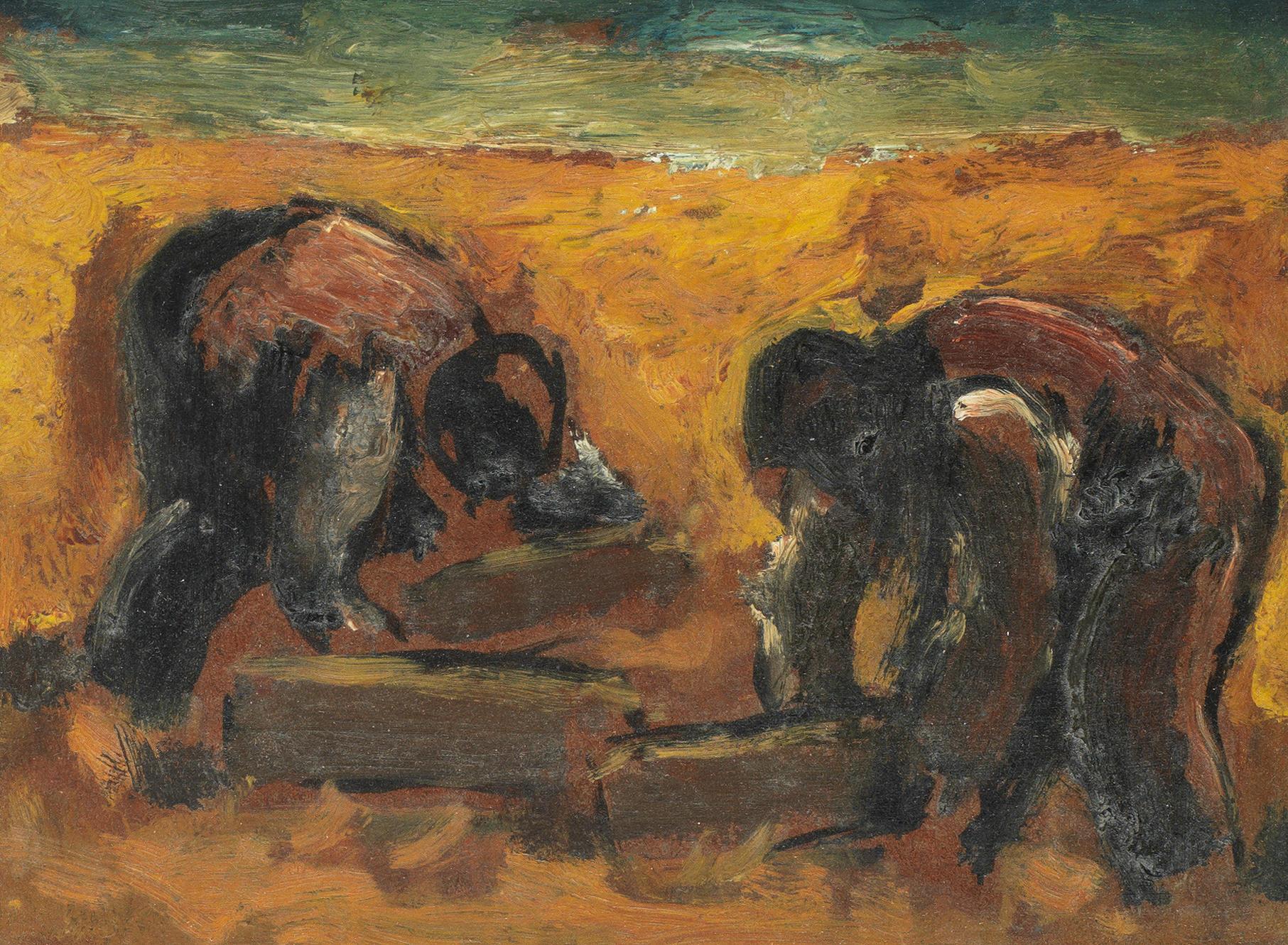 Josef Herman R.A. (British, 1911-2000)
