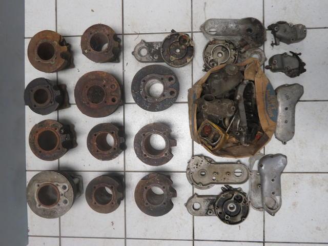 A quantity of Ariel engine components