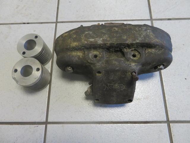A Norton Manx DOHC cambox assembly