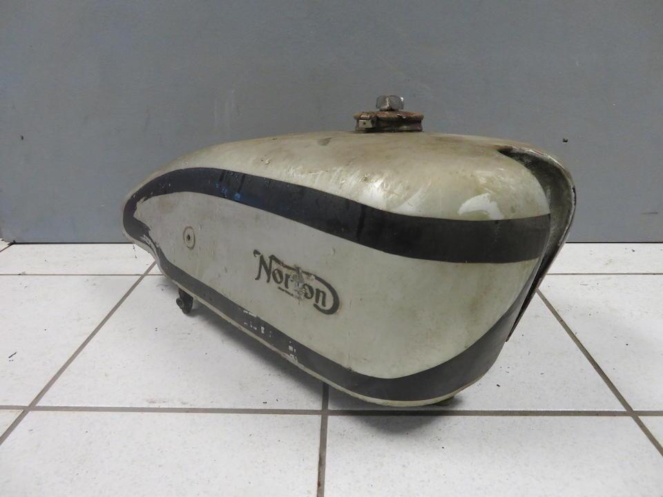 A Norton International fuel tank