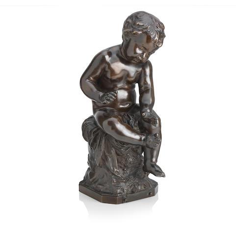 Auguste Moreau (French, 1834-1917) Enfant a la Mouche bronze
