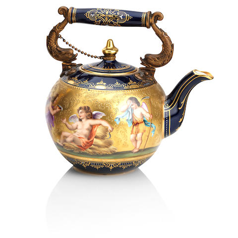 A Vienna-style teapot and cover Circa 1900