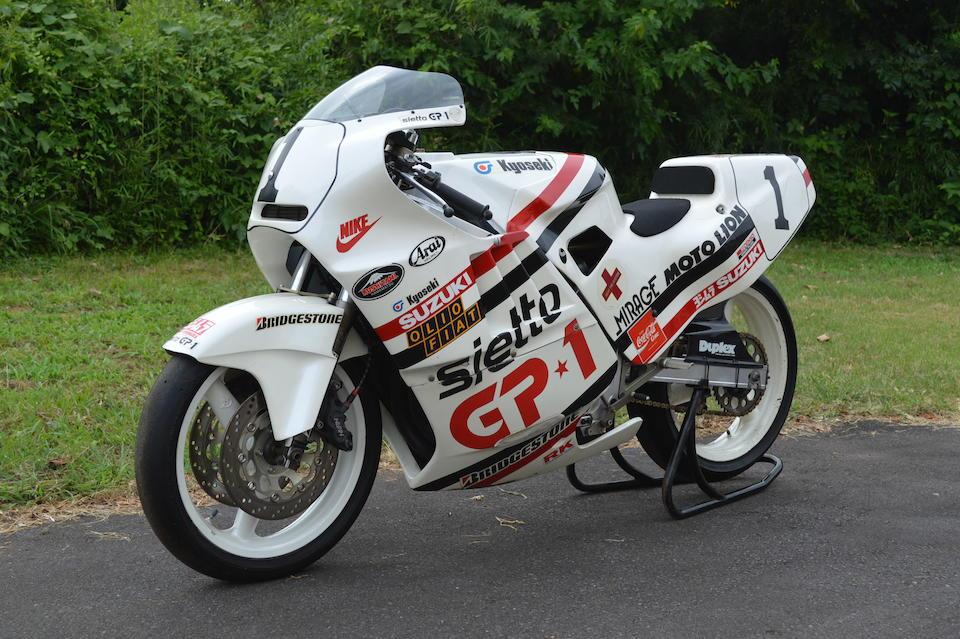 Believed twice winner of the Suzuka 4 Hours Endurance Road Race (Novice Class), 1987 Yoshimura Suzuki GSX-R400 Racing Motorcycle Frame no. GK71F-100038 Engine no. K706-100090