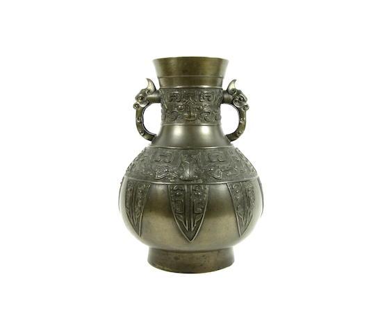 A bronze archaic-style vase 19th century