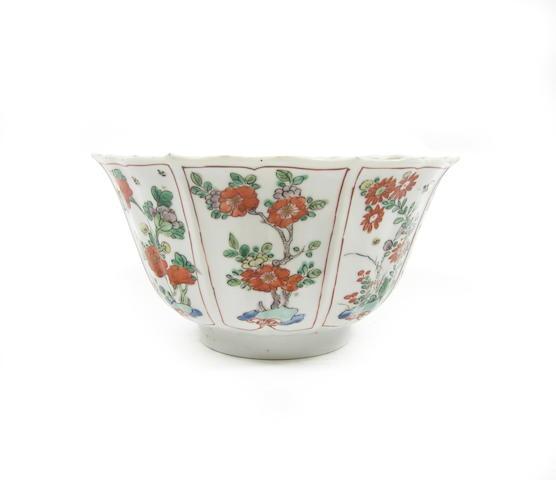 A famille verte bowl Kangxi