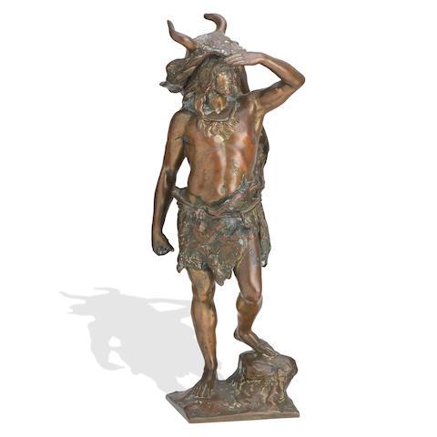 A late 19th century bronze figure, possibly depicting Vercingetorix