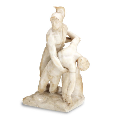 After Pietro Tacca (Italian, 1577-1640) A late 19th century alabaster figure group