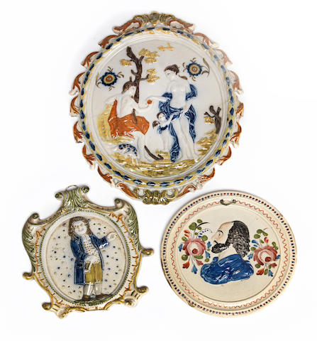 A group of Prattware Late 18th and early 19th Century