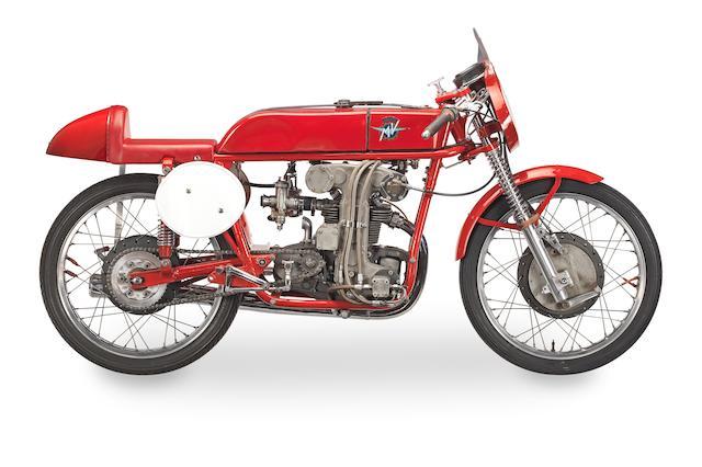The ex-works; Carlo Ubbiali, 1956 MV Agusta 123.5cc Bialbero Racing Motorcycle Frame no. 410 Engine no. 410