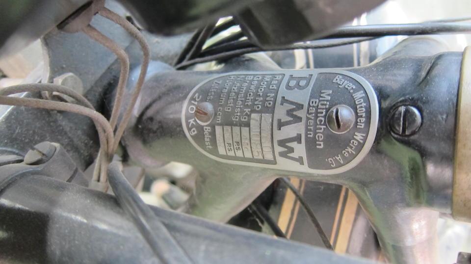 1928 BMW 500cc R57 Frame no. 27600 Engine no. 70085
